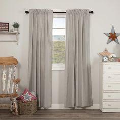Hatteras Seersucker Blue Ticking Stripe Panel Curtains – Lange General Store
