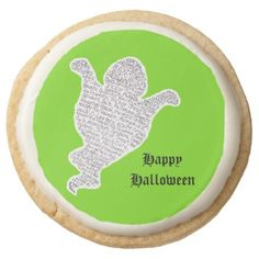 Halloween Ghost Round Shortbread Cookie  $27.90  by julia_art  - cyo diy customize personalize unique