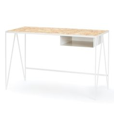 Paper white steel Study desk with OSB top for spring 2016. #andnewfurniture made in Britain.