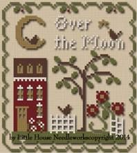 Over The Moon is the title of this cross stitch pattern and thread pack from…