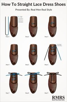 48b94f6f8e89 Here is a step by step breakdown of the perfect way to lace your dress shoes