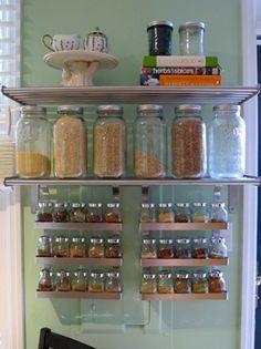 nice mason jar cabinet. Kitchen