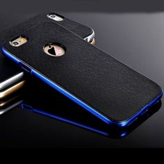 Luxury  2 in1 PC Plating Chrome Frame + Hard Back Case For iPhone 5 5S SE / 6 6S 4.7 / Plus 5.5inch Plastic + TPU Hybird Cover