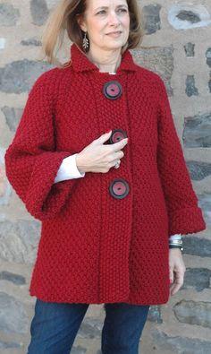Hand Knit women's cardigan wom