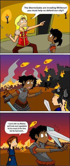 Skyrim: Sense of Urgency by ~PParreira on deviantART i had this moment when a dragon was attacking
