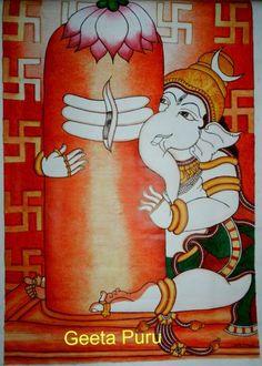 Bal Ganesh Kerala Mural