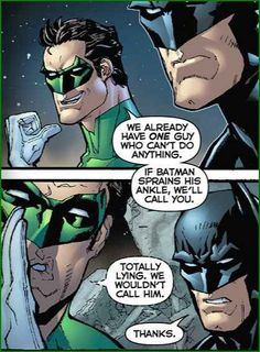 That time Green Lantern lived because public team killing is bad press. | 15 Times Batman Was 100% Done With The Justice League