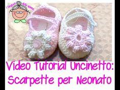 Tutorial uncinetto - Scarpine per neonato - 1 di 5 - YouTube
