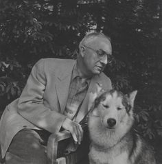 William Carlos Williams with Husky William Carlos Williams, Modern Poetry, Beatitudes, Writers And Poets, Composers, Famous People, Musicians, Husky, How To Memorize Things