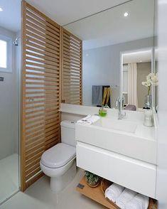 Hello people! Mais um daqueles banheiros que amamos! Menos é mais sempre! Projeto: Autor Desconhecido.