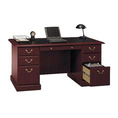 Found it at Wayfair - Saratoga Executive Collection Manager's Desk http://www.wayfair.com/daily-sales/p/Stylish-Home-Office-Solutions-Saratoga-Executive-Collection-Manager%27s-Desk~BU1443~E17924.html?refid=SBP.rBAZEVUIfcdL9XEF92BCApTK-KHj9ksKrUnqURQ_iKQ