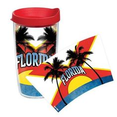 Tervis Tumbler American Pride Florida Flag Colossal Tumbler Size: 16 oz., Lid Color: Red