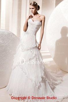 Sweetheart Neck Organza Wedding Dress from Milan Design dressale.com