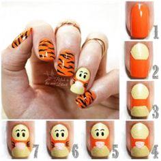 Disney Acrylic Nails, Disney Nails, Cute Acrylic Nails, Disney Nail Designs, Nail Art Designs Videos, Cute Nail Art, Nail Art Diy, Disney Inspired Nails, Pretty Nails