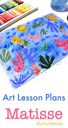 Meet Matisse :: creative art lessons for children : Matisse art lessons plans, easy famous art lesson plans Introduce your children to our Creativity Mentor Matisse and try these four art projects Matisse Kunst, Kunst Picasso, Matisse Art, Picasso Art, Henri Matisse, Kindergarten Art Lessons, Kindergarten Art Projects, Art Lessons Elementary, Art Lessons For Kids
