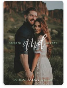 This Photo Save The Date Card Features Hand Lettering. Simple And Minimalist, Green Save The Dates From Minted By Independent Artist Itsy Belle Studio. Sea Green SMG.