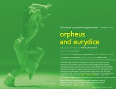 Canadian Stage 11.12 Season Brochure, Orpheus and Eurydice. Photo by Michael Slobodian.