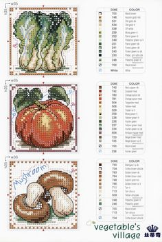 Cross-stitch Veggies, part 2.. **for my kitchen.. Ruth** ... Gallery.ru / Фото #13 - 6 - KIM-3