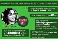 Wishing a very Happy Birthday to most Gorgeous and Beautiful #DreamGirl #HemaMalini. #HappyBirthdayHemaMalini.