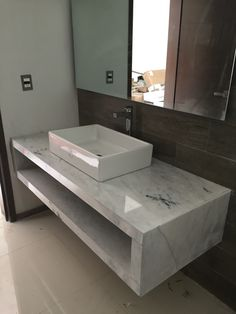Beautiful indoor bathroom, made of white marble Venice