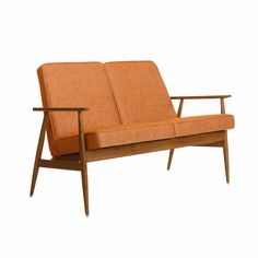 366 Fox two seater, Loft collection Global Home, Retro Furniture, Mid Century Furniture, Lofts, Wood Colors, Love Seat, Relax, Lounge, Restaurant