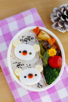Polar bears bento by luckysundae, via Flickr