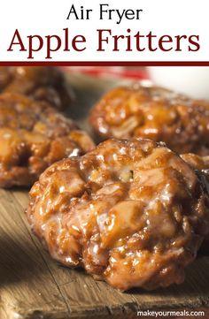 Air Fryer Recipes Dessert, Air Fryer Oven Recipes, Air Frier Recipes, Apple Dessert Recipes, Brunch Recipes, Healthy Desserts, Apple Recipes Easy Quick, Fried Apples Recipe Easy, Apple Fritter Recipes