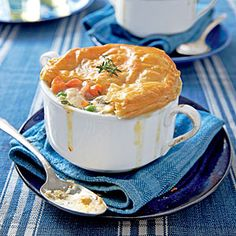 Loaded Chicken-Bacon Pot Pie - I made this last night and the whole family actually ate it!  I substituted eggplant for the mushrooms due to an allergy.