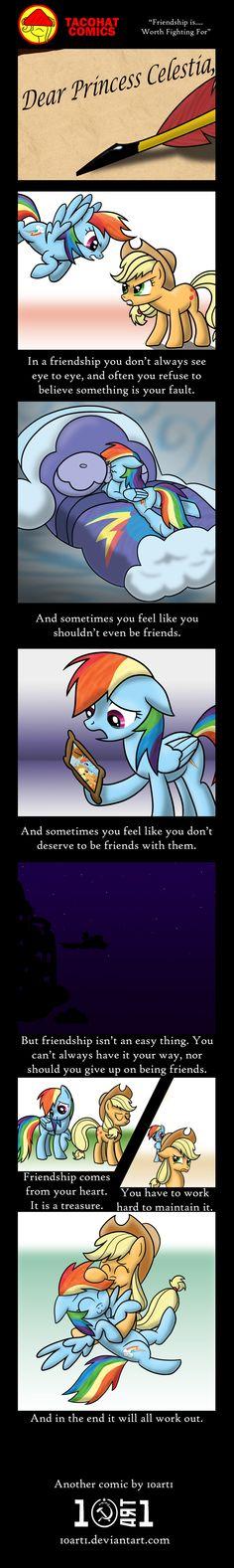 Friendship Is... Worth Fighting For by 10art1.deviantart.com on @deviantART