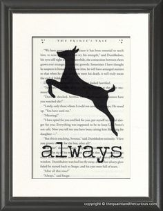 Harry Potter Art Print Decor - Always on Potter Book Page