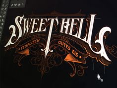 Putting last touches on a logotype for an Austrian ice cream bar, Sweet Hell…