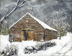 Ray Emersons Old Barn Painting  - Ray Emersons Old Barn Fine Art Print