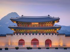 Tour Gyeongbokgung Palace; it dates back to the 14th century and is one of the largest palaces in South Korea.