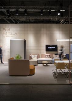 Pod Family by Martela Booth Design, Scandinavian Design, Stockholm, Phone, Table, Furniture, Home Decor, Telephone, Decoration Home