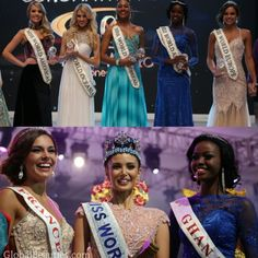 Congratulations to all the winners of Miss World 2013!   Miss World 2013 - Megan Young (Philippines) 1st Princess - Marine Lorphelin (France) 2nd Princess - Naa Okailey Shooter (Ghana)  Continental Queens of Beauty  Miss World Africa - Ghana (Naa Okailey Shooter)  Miss World Americas - Brazil (Sancler Frantz) Miss World Asia - Philippines (Megan Young) Miss World Caribbean - Jamaica (Gina Hargitay) Miss World Europe - France (Marine Lorphelin) Miss World Oceania - Australia (Erin Holland)