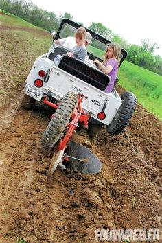 1963 Jeep Cj 5 Plowing Field