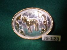 Beautiful Old Standing Horse Cowboy Belt Buckle Alpaca MAKE AN OFFER $55.00 or Best Offer Free shipping