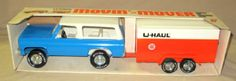 Nylint U-Haul Movin Mover Chevy Blazer w/ Tandem Axle enclosed Trailer Set w/ box #4157