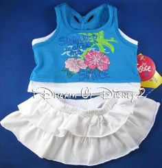 Build A Bear New Justice Sequin Butterfly Top Skirt Summer Smile Teddy Outfit | eBay