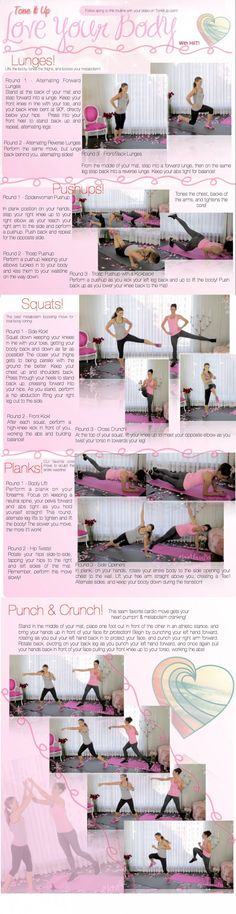 LYB2 Tone It Up TIU Love Your Body Printable HIIT interval workout fat loss cardio routine JPG