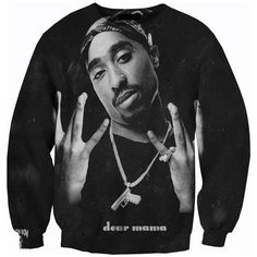 Tupac Sweatshirt Sweater Crewneck Trust Nobody by CrystalsFashion,... ❤ liked on Polyvore featuring tops, hoodies, sweatshirts, crew-neck sweatshirts, crew neck sweatshirts, crew neck tops, crewneck sweatshirt and crew top
