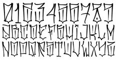 """Inspired by the """"Chicano"""" lettering - .- Inspiriert von den """"Chicano"""" -Schriftzügen – Inspired by the """"Chicano"""" lettering – - Tattoo Lettering Alphabet, Chicano Tattoos Lettering, Tattoo Lettering Styles, Graffiti Lettering Fonts, Graffiti Tattoo, Tattoo Script, Graffiti Designs, Graffiti Artists, Lettrage Chicano"""
