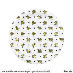 Cute Bumble Bee Pattern Paper Plates  sc 1 st  Pinterest & Rustic Burlap Custom Party Paper Plates | Burlap Wedding paper and ...