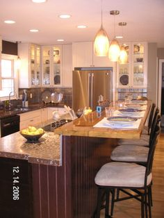 Breakfast Bar on stainless steel house designs