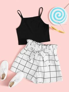 Really Cute Outfits, Cute Lazy Outfits, Teenage Girl Outfits, Crop Top Outfits, Girls Fashion Clothes, Teen Fashion Outfits, Retro Outfits, Cute Fashion, Stylish Outfits