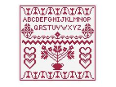 Sampler Pattern Cross Stitch  PDF Chart No.101 by GreatHome