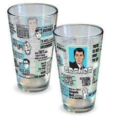Amazon.com: Archer Quotes Pint Glass: Kitchen & Dining