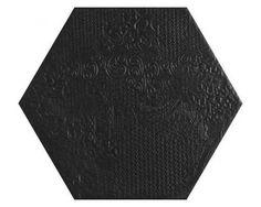 Codicer95 Milano Black Hex 25x22 Płytka Gresowa Podłogowo-Ścienna