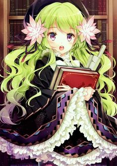 Ideas Hair Green Anime Girl Kawaii For 2019 Manga Anime, Anime Chibi, Manga Girl, Anime Art, Anime Girl Cute, Beautiful Anime Girl, I Love Anime, Anime Girls, Loli Kawaii