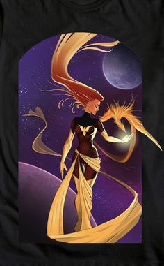 Dark Phoenix, Marvel Villains @WeLoveFine .com by rafoodle